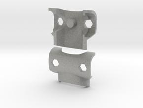 Simple Breastplate for ModiBot in Metallic Plastic