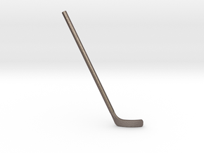 Hockey Stick for ModiBot: Bent (Right-handed) in Polished Bronzed Silver Steel