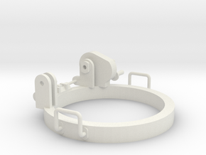 AA Mount for DShK machine Gun part A Scale 1:12 in White Natural Versatile Plastic