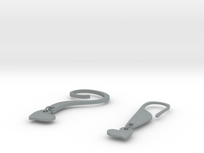 EARRINGS POINT in Polished Metallic Plastic
