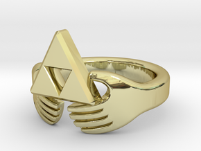 Triforce Claddagh Ring in 18k Gold: 5 / 49