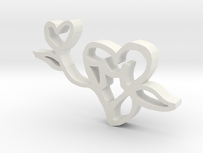 The Love Flower in White Natural Versatile Plastic