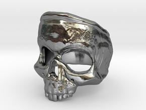 SkullRing in Polished Silver: 12 / 66.5