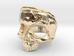 SkullRing in 14k Gold Plated Brass: 12 / 66.5