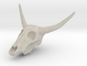Cow skull in Natural Sandstone