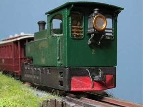 00n3 Clogher Valley Tram Engine in White Processed Versatile Plastic