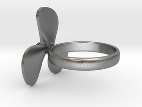 Boat propeller ring in Natural Silver (Interlocking Parts): 6 / 51.5