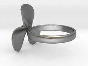 Boat propeller ring in Natural Silver (Interlocking Parts): 8.5 / 58
