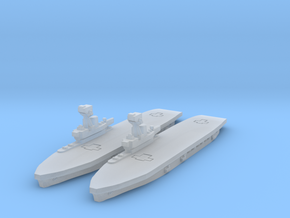 HMS Hermes in Smooth Fine Detail Plastic