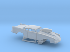 1/24 57 Chevy Pro Mod W Scoop in Smooth Fine Detail Plastic