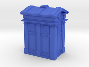 Edinburgh Police Box 4mm/ft OO Scale in Blue Strong & Flexible Polished