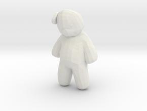 Printle Thing Teddy Bear 1/24 in White Natural Versatile Plastic