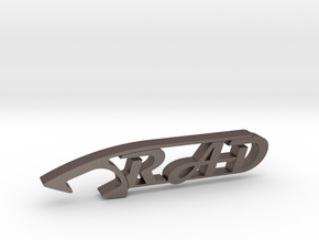 RAD BEER BOTTLE OPENER in Polished Bronzed Silver Steel