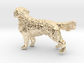 1/24 Golden Retriever Young Standing in 14K Yellow Gold