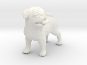 1/12 Bulldog in White Natural Versatile Plastic