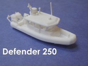 Defender 250 Rigid Inflatable Boat (1:148) in White Natural Versatile Plastic: 1:148