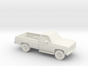 1/72 1982 Chevrolet Silverado in White Natural Versatile Plastic