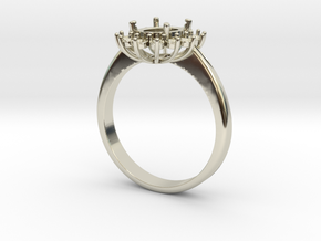 Princess lady ring in 14k White Gold: 6.5 / 52.75