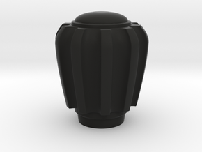 Railbox Knob Knurled in Black Strong & Flexible