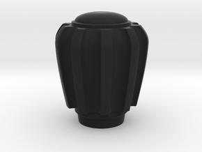 Railbox Knob Knurled in Black Natural Versatile Plastic