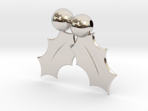 Holly Leafs in Rhodium Plated Brass
