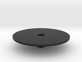 Large round table in Black Natural Versatile Plastic