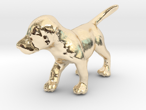 1/24 Puppy in 14k Gold Plated Brass