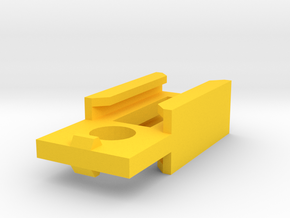 Nerf Rail to Rail Adapter in Yellow Processed Versatile Plastic