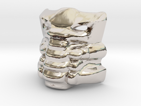 Krana Xa in Rhodium Plated Brass