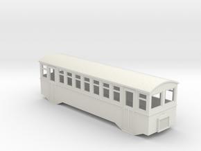 HOe bogie railcar  in White Natural Versatile Plastic