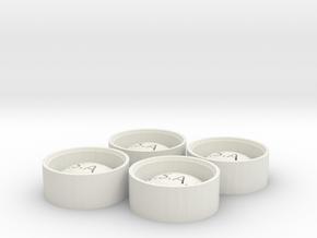 "NSAK 30"" wheel in White Natural Versatile Plastic: 1:24"
