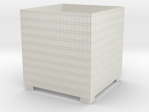HO scale A Highrise Extension in White Natural Versatile Plastic