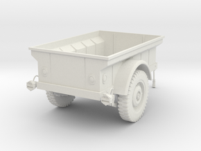 1:16 USA M-100 MBT Jeep Trailer v2 in White Natural Versatile Plastic