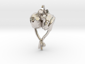 Artificial Heart Pendant! in Platinum