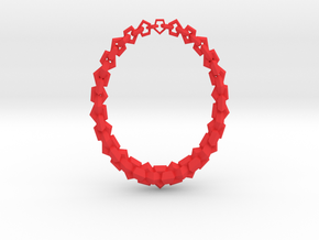 Necklace1 in Red Processed Versatile Plastic