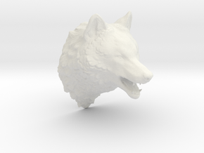 Woolf head in White Natural Versatile Plastic