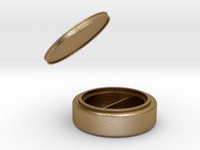 珠寶盒.stl in Polished Gold Steel: Medium