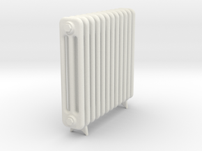 Radiator 12 Rippen mit Fuss in White Natural Versatile Plastic