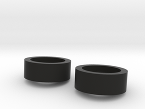 1/10 SCALE INNER DUALLY WASHER MOUNTS in Black Strong & Flexible: 1:10