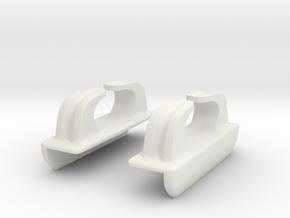 1/48 IJN Chock/ Typical Fairlead in White Natural Versatile Plastic