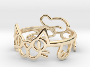 Frisky Cat Ring in 14K Yellow Gold: 12 / 66.5