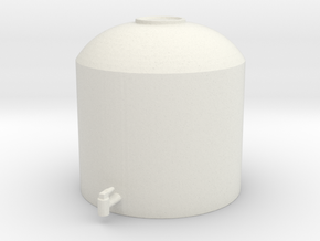 1/64 Poly Tank in White Natural Versatile Plastic