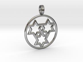 TRISTAR OF DAVID in Premium Silver