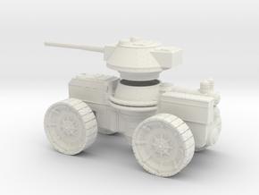 15mm AQMF SAMSON HEAVY GUN - MK I in White Strong & Flexible