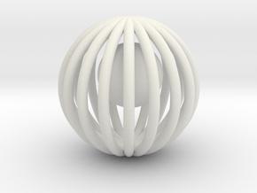 Decorations in White Natural Versatile Plastic