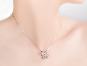 HONEYBOMB Capsule, Pendant. Sweet Explosion. in Polished Silver