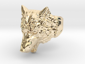 Wolf Head Ring in 14K Yellow Gold: 9 / 59
