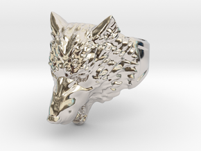 Wolf Head Ring in Platinum: 9 / 59