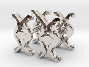 HEAD TO HEAD Union Cufflinks in Platinum