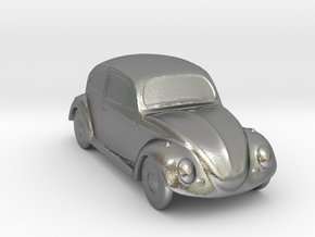 Silver Beetle in Raw Silver